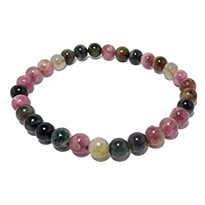 Watermelon Tourmaline Rainbow Gemstone Beaded Bracelet