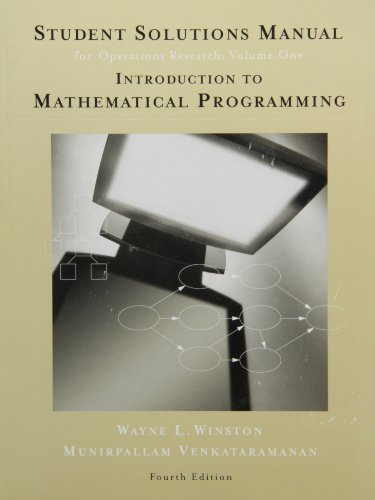 Student Solutions Manual for Winston's Introduction to...