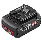 Hochstern 18V BAT609 de remplacement pour Bosch 18V batterie BAT609G BAT610G BAT618G BAT618 BAT618G BAT619 BAT619G BAT622 BAT620-2PK SKC181-202L avec indicateur de charge LED
