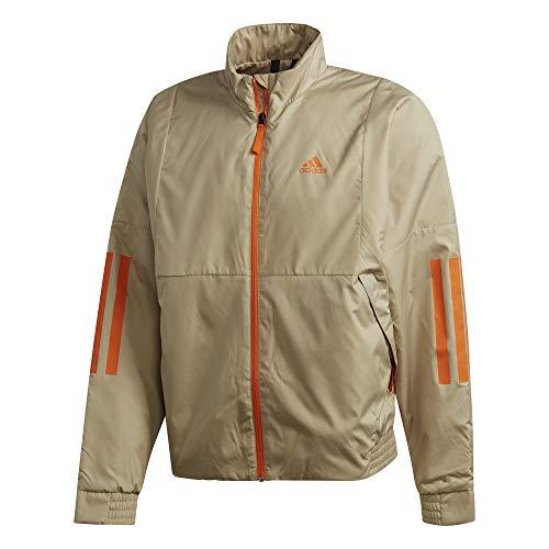 adidas Giacca da uomo Bts Light, Uomo, Giacca, FT2441, Savann/Arancione., S