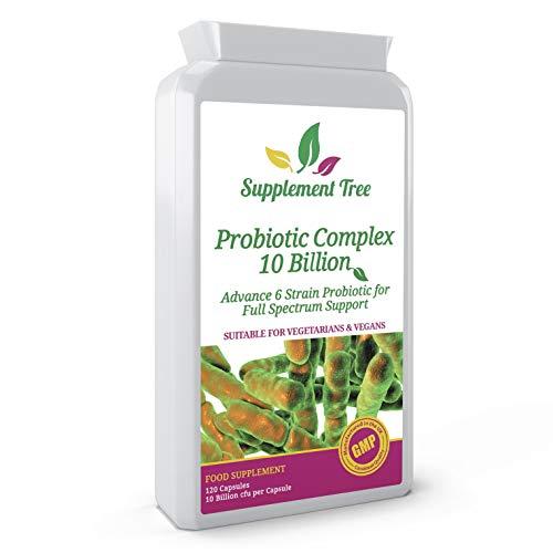 Probiotics Complex 10 Billion CFU | 120 Targeted Release Capsules | Vegans & Vegetarian Friendly