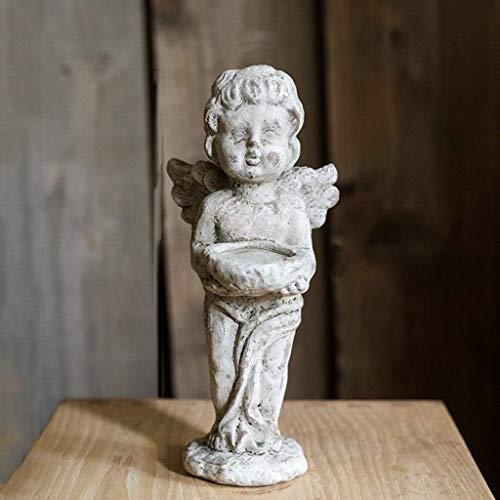 Estatua de oficina decorativa, portavelas de diseño de alta calidad, cerámica, hormigón, herutos, piedras antiguas y hormigón