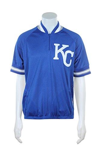Mitchell & Ness Kansas City Royals MLB auténtico 1/4Cremallera Chaqueta de Calentamiento 1992, Azul