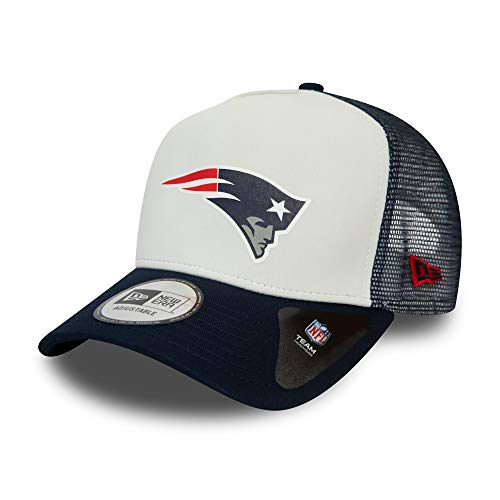 New Era New England Patriots NFL Cap New Era Trucker Kappe Verstellbar American Football Weiss - One-Size