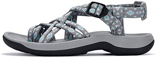 Viakix Walking Sandals for Women – Ultra Comfortable Athletic Sandals with Arch Support, for Hiking, Outdoors, Water, Sports