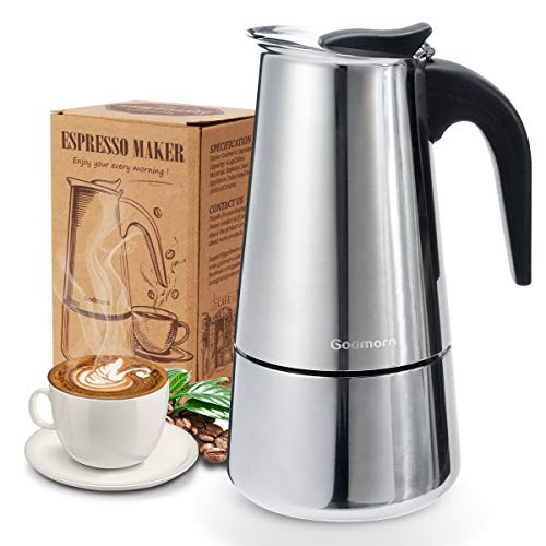 Buy Discount Stovetop Espresso Maker Moka Pot,300ml/450ml Godmorn Italian Coffee Maker Percolator,6 ...