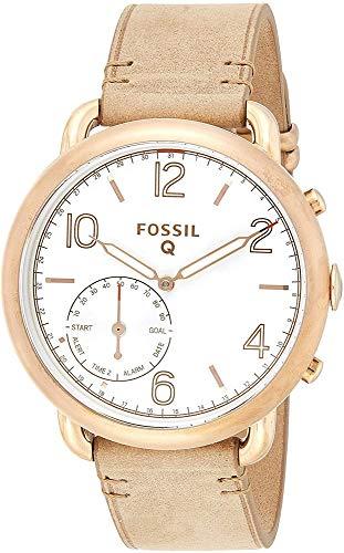 Fossil Damen Hybrid Smartwatch Q Tailor - Leder - Braun – Elegante analoge Damenuhr im Vintage Design mit vielen Smartfunktionen – Für Android & iOS