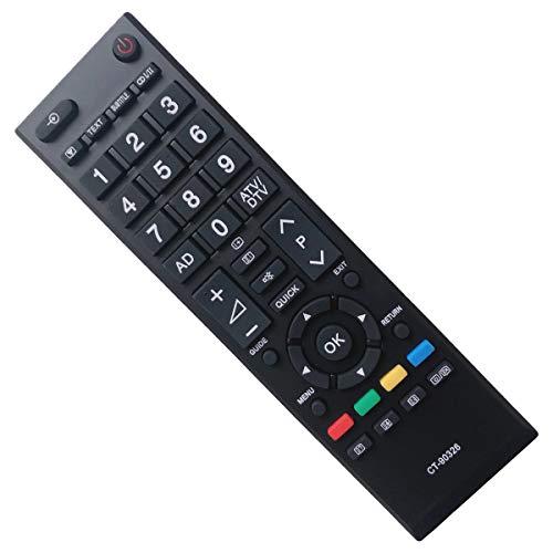 EAESE Sostitutivo Telecomando Toshiba CT-90326 LED LCD Smart 4K TV - Compatibile 40LV675 40LV675D 40LV703G1 40LV733F 40LV733N 40LV833F 40LV833G 42HL833F 42HL833G 26EL933G 39L2337DB 40HL933G
