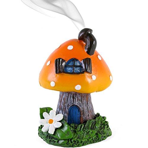 Orange Smoking Fliegenpilz Halter für Räucherkerze, Brenner, Von Lisa Parker