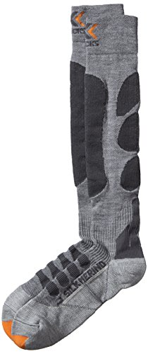 X-Socks Silk Merino Chaussettes de ski Gris/Anthracite FR : 45-47 (Taille Fabricant : 45-47)