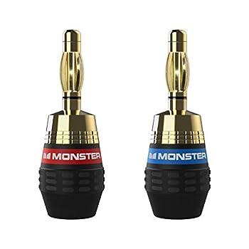 Monster XP QuickLock Connectors - Best Banana Speaker Wire Plugs for DIY Installations - 2 Pair  4 Total