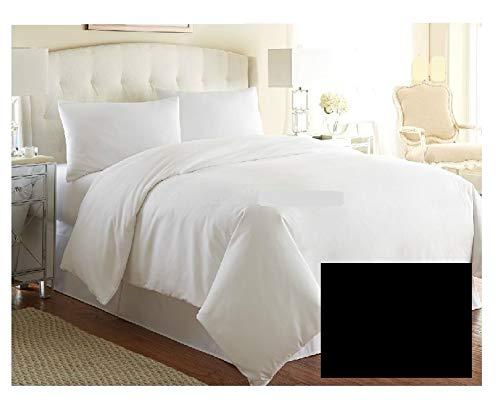 Funda de edredón de lujo para cama (tamaño Emperor, calidad de hotel), más de 20 colores (negro)