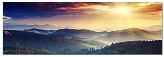 Cuadro panorámico XXL 150x50cm Super cuadros! (Panorama montaña) Nuevo Mural xxl barato & moderno Impresión artística Murales Cuadros Exclusivo cuadro pared sobre lienzo y arco cuña Cuadro Mural Impresión fotográfica moderna Atemporal Llena de estilo