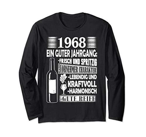 Jahrgang 1968 Geschenk für Mann zum Geburtstag Wein Witz Langarmshirt