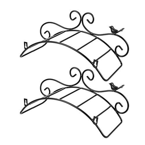 YARNOW 2 Uds Soporte de Manguera de Montaje en Pared Soporte de Manguera de Jardín Manguera de Jardín Decorativa Soporte de Manguera de Almacenamiento Organizador de Manguera para Patio