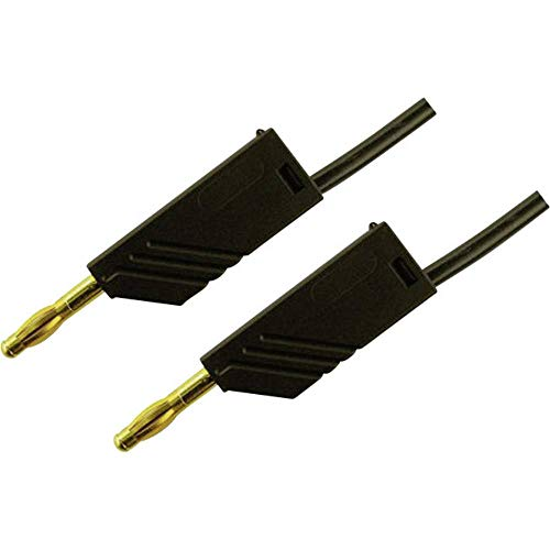 Kabel-Größe [Stecker A Leiste 4mm–Stecker A Leiste 4mm] 1.50m Schwarz SKS Hirschmann MLN 150/25AU Schwarz