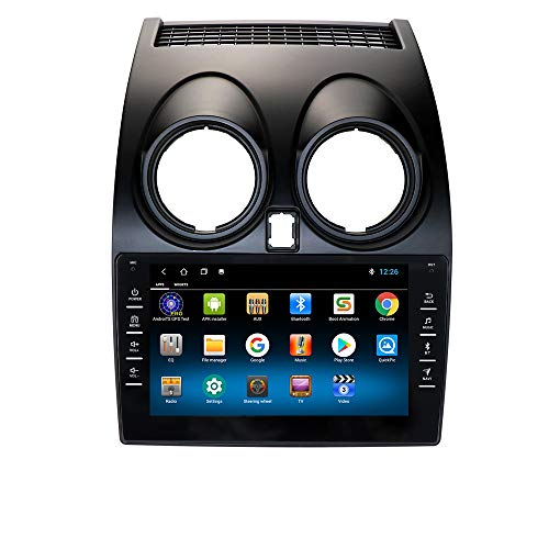 Android 10 Autoradio para Nissan Qashqai 2006-2013 Radio GPS Navegador Control del Volante Bluetooth Manos Libres WiFi 4G USB Enlace Espejo Dab+ Entrada de Vista Trasera