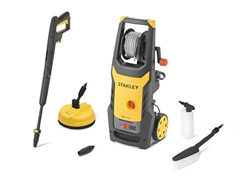 STANLEY SXPW16PE Idropulitrice ad Alta Pressione con Patio Cleaner e Spazzola Fissa (1600 W, 125 bar, 420 l/h)