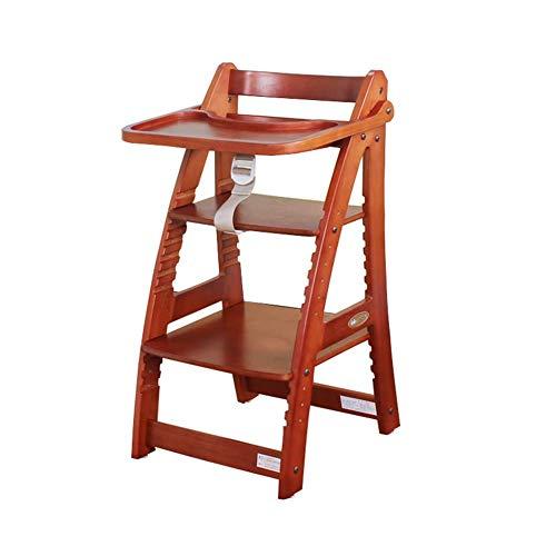 QQXX hoge stoelen baby eettafel stoelen verstelbare veiligheidsgordel massief hout multifunctioneel kinderzitje ZHANGQIANG (kleur: oranje, maat: groot) ZQANG4464r-1 Zqang4464r-1