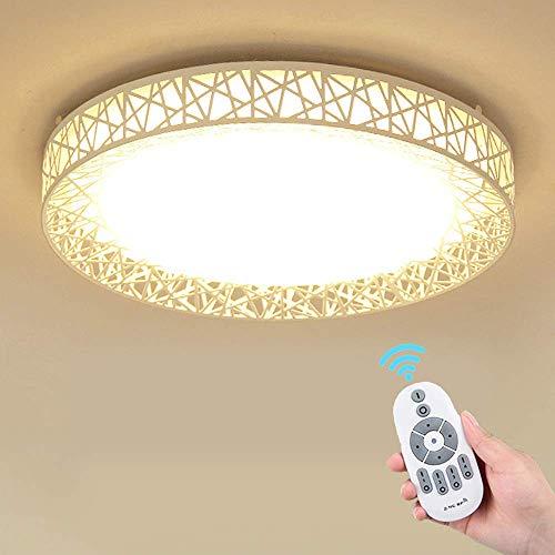 Pendant Light Bird's Nest Ceiling Light LED Round Fixture with Promise Remote Control Bedroom Modern Minimalist Living Room Aisle Bathroom Kitchen Balcony Study Milky