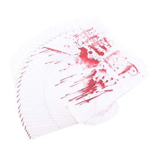 PRETYZOOM - Servilletas para Halloween, 40 unidades, diseño de sangre