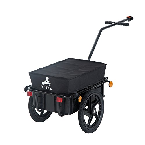 Aosom Enclosed Bicycle Cargo Trailer, Black