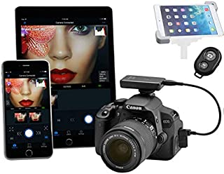 Tether Tools Wireless Case Air - Wirelessly Tether Control Your Camera from Any Portable Device Bonus iPad/Tablet Tripod Adapter and Trigger Remote Controller