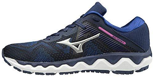 Mizuno Women's Horizon 4 Running Shoe, Medieval Blue - Silver, 9