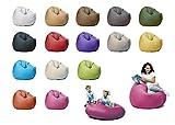 sunnypillow XL Sitzsack mit Styropor Füllung 100 cm Durchmesser 2-in-1 Funktionen zum Sitzen und Liegen Outdoor & Indoor für Kinder & Erwachsene viele Farben und Größen zur Auswahl Rosa