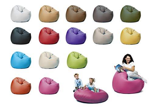 sunnypillow XXL Sitzsack mit Styropor Füllung 125 cm Durchmesser 2-in-1 Funktionen zum Sitzen und Liegen Outdoor & Indoor für Kinder & Erwachsene viele Farben und Größen zur Auswahl Rosa