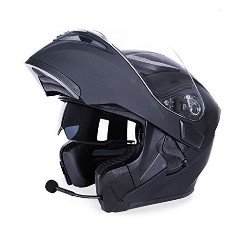 Motorradhelm Bluetooth Doppelvisier Klapphelm Racing 4 Seasons Kopfbedeckung Casque Capacete Casco Dot Bluetooth Helm