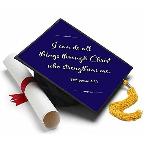 Tassel Toppers Philippians 4:13 Grad Cap Decorated Grad Caps