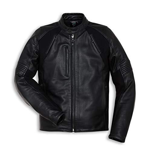 Ducati Lederjacke Black Rider schwarz Größe 58