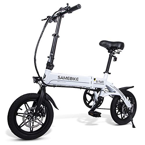 Lixada Bicicleta Eléctrica Plegable Motor 350W 48V con Rueda 26 Pulgadas E-Bike Scooter de Llanta Combinado (Negro-250W, 14 Pulgadas)