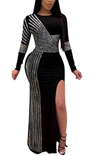 Aro Lora Women's Mesh Halter Hollow Out See-Through Hot Drilling Mini Club Dress