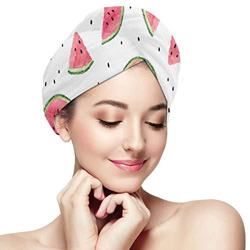 QHMY Kawaii Rose Fruit Été Pastèque Cheveux Wrap Serviettes pour Femmes Cheveux Sèche Serviette Wrap Doux Absorbant Séchage Rapide Cheveux Turban Kid Cheveux Serviette Wrap Cheveux Séchage Chapeau en