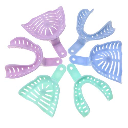 Vassoio Dentale - Vassoi per Impronte dentali in plastica di Colore Misto 6 Pezzi Porta Materiali per Denti