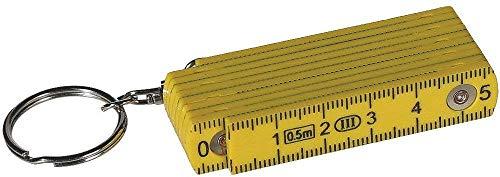 Familienkalender Mini Zollstock 50cm Schlüsselanhänger mit Farbauswahl (gelb)