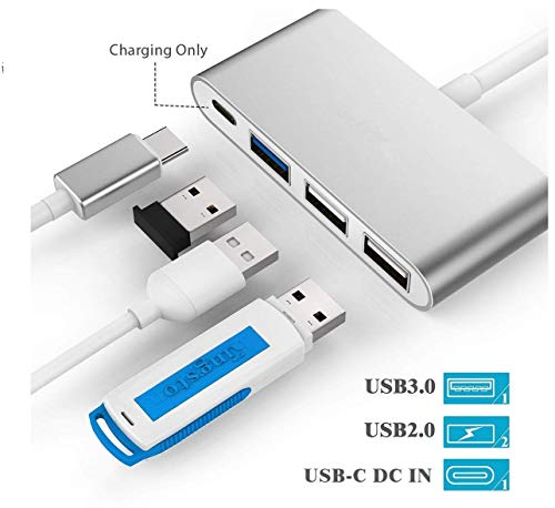 4 In 1 USB 3.1 Type C Multi-port Hub With Cable For Desktop Computer Laptop
