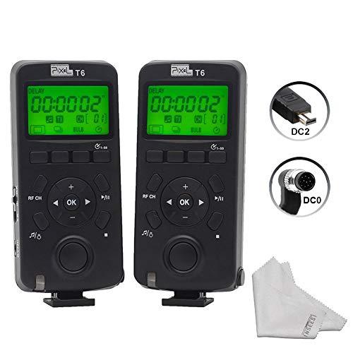 Pixel T6 2PCS Display LCD Rilascio otturatore Telecomando senza fili Ricetrasmettitore 2.4GHz per Nikon D800S D700 D300S D2S D1S D200 D4 D3S D7100 D70