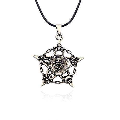 Revilium Steampunk Pentagrama Invertido Estrella Dios Colgante De Cabeza De Cabra Collar Satan Satan Misterioso Collar De Metal Joyería 50Cm