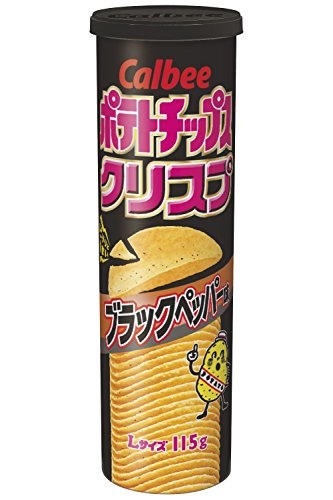 ポテトチップスクリスプ ブラックペッパー味 115g 12個