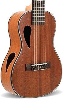 HKHJN 28 Pulgadas Ukulele Ukulele Guitalele 6 Arpa Guitarra Ukulele (Color : Wood Color, Size : 28 Inch)