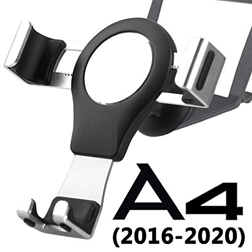 Phone Holder for Audi A4 B9 S4 A5 S5, Audi Car Phone Holder Phone Mount 360° Rotation Gravity Auto Lock Aluminum Alloy Handsfree Easy Mount Audi A4 Accessories S4 Audi A5 Accessories S5