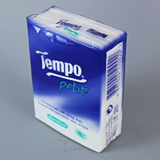 Tempo Pocket Tissues x 36pcs ICE MENTHOL Petit