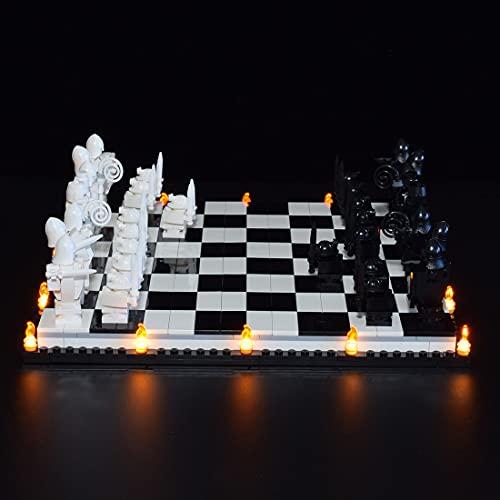 MBKE Conjunto de Luces Lluminación para LEGO Harry Potter 76392 Hogwarts Ajedrez Mágico , Kit de luz LED Compatible con Lego 76392