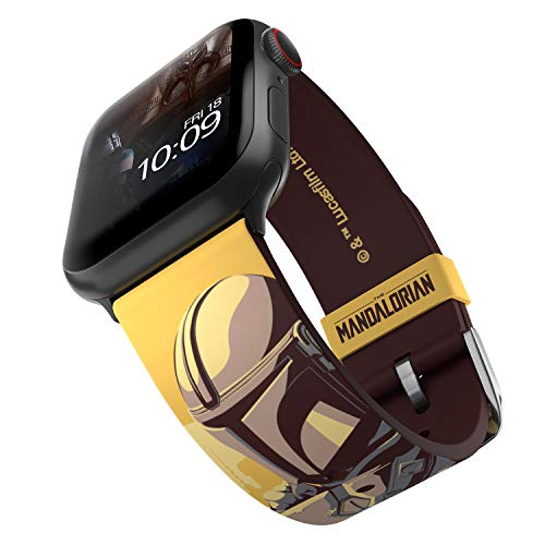 Star Wars: The Mandalorian - Code of Honor Edition – Officially Licensed Silicone Smartwatch Band Compatible with Apple Watch, Fits 38mm, 40mm, 42mm and 44mm