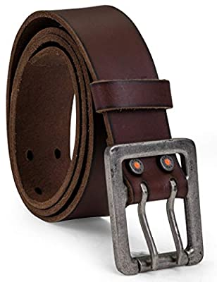 Timberland PRO Men's Big and Tall 42mm Double Prong Leather Belt, Brown, 44