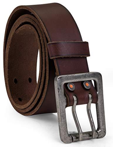 Timberland PRO Herren 42mm Double Prong Leather Belt Gürtel, braun, 36