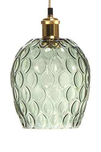 One Couture - Lámpara de techo (cristal), diseño retro, color verde y dorado